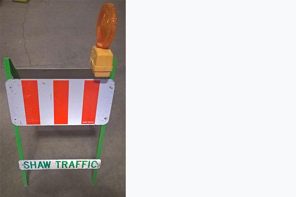 A-Frame Flasher – Folding Barricade w/ Flasher