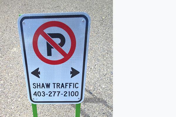 No Parking w/ Stand